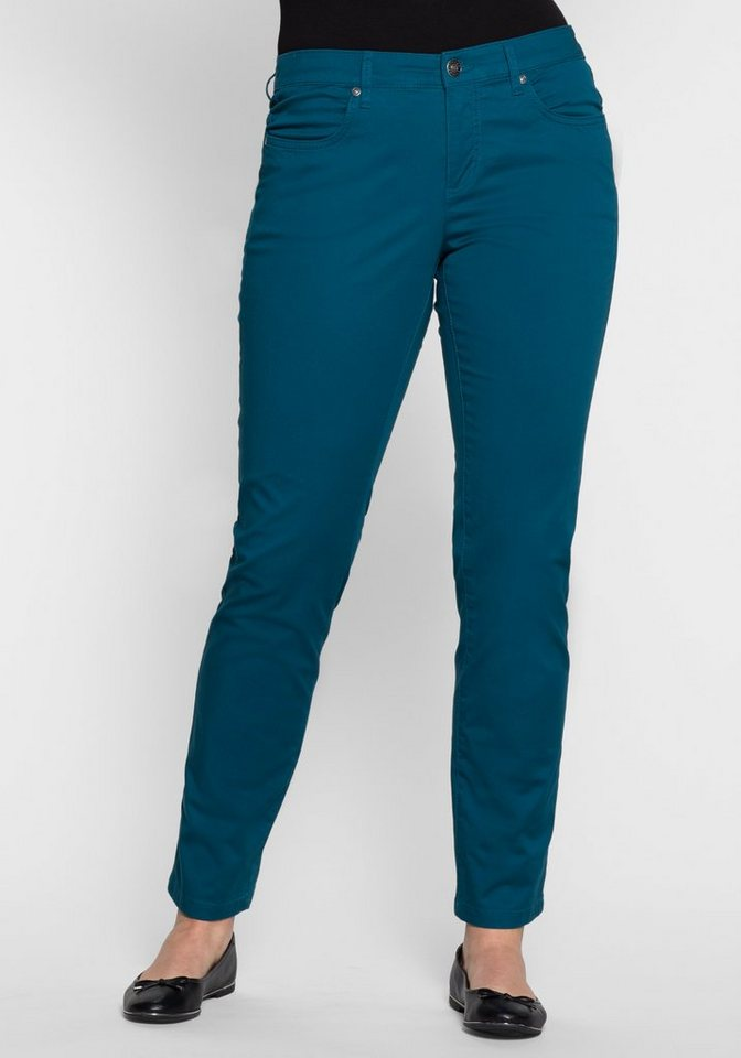 sheego Casual BASIC Stretch-Hose in orientblau