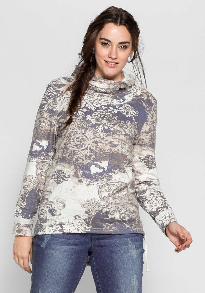 Joe Browns Sweatshirt mit Alloverdruck in offwhite bedruckt