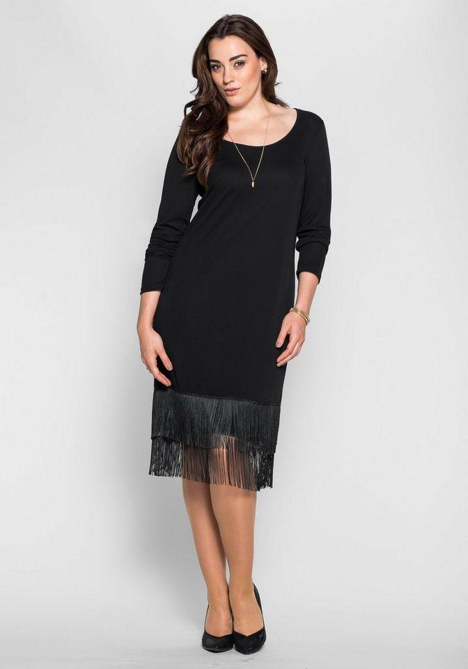 sheego Anna Scholz Charleston-Kleid in schwarz