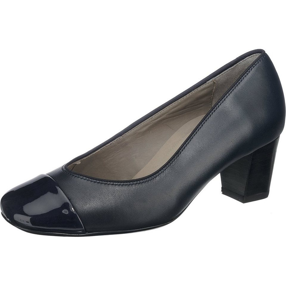 ara London Pumps in dunkelblau