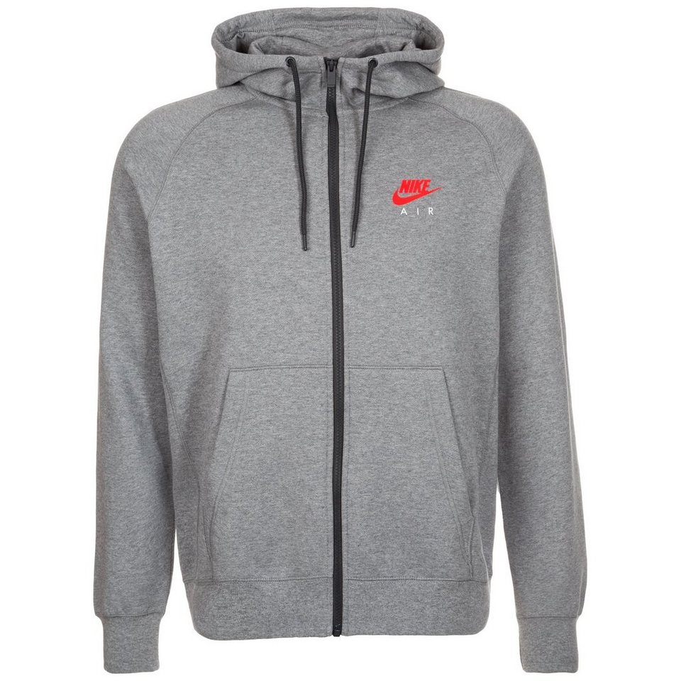 Nike Sportswear Air Fleece Kapuzenjacke Herren in grau / anthrazit