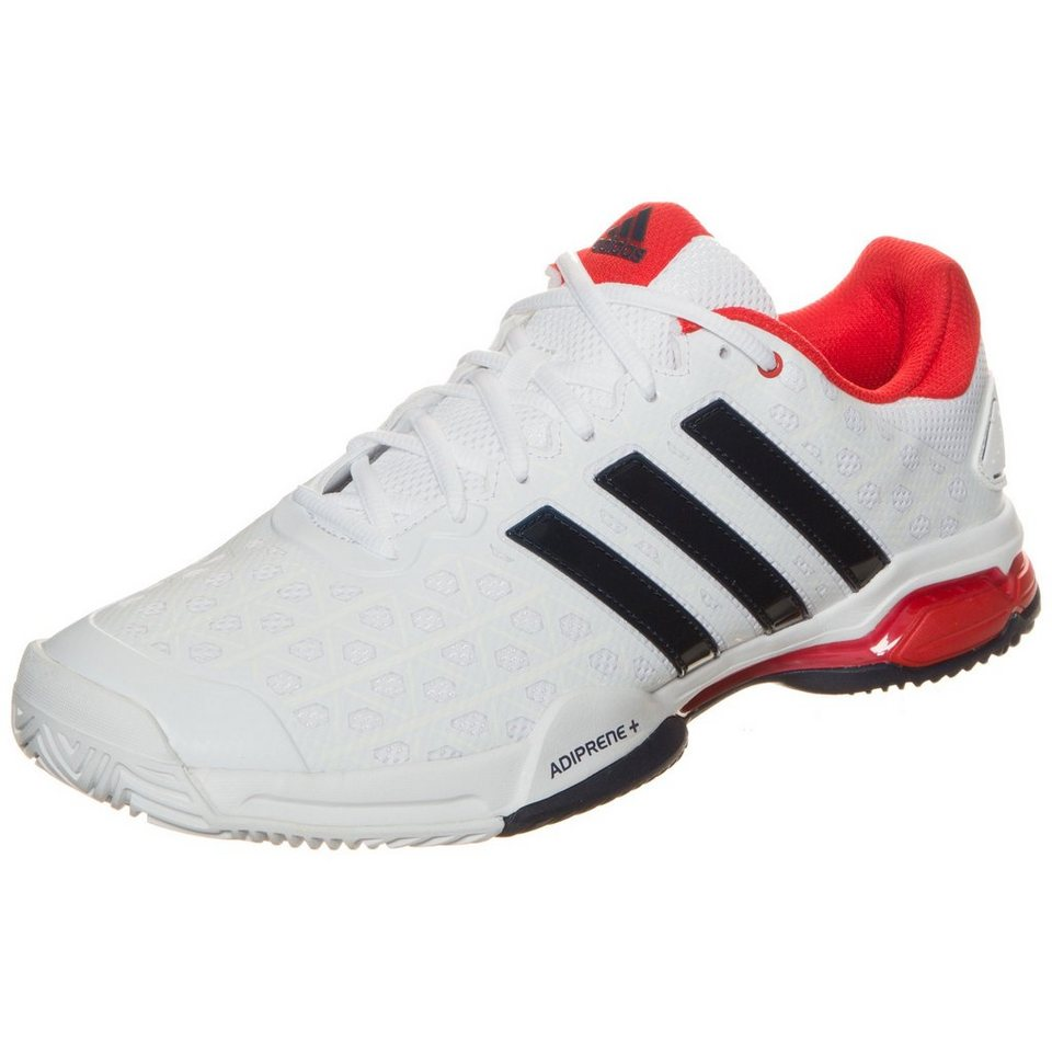 adidas Performance Barricade Club Tennisschuh Herren in weiß / blau / rot