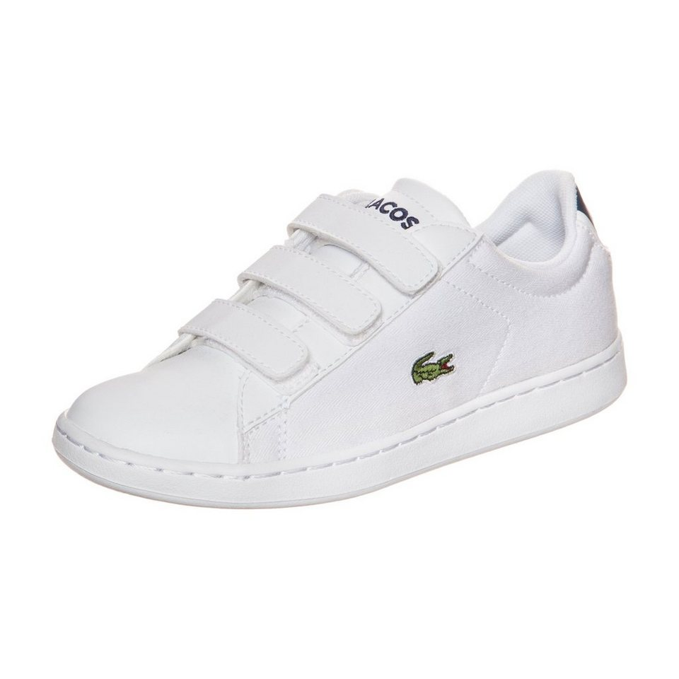LACOSTE Carnaby Evo Sneaker Kinder in weiß