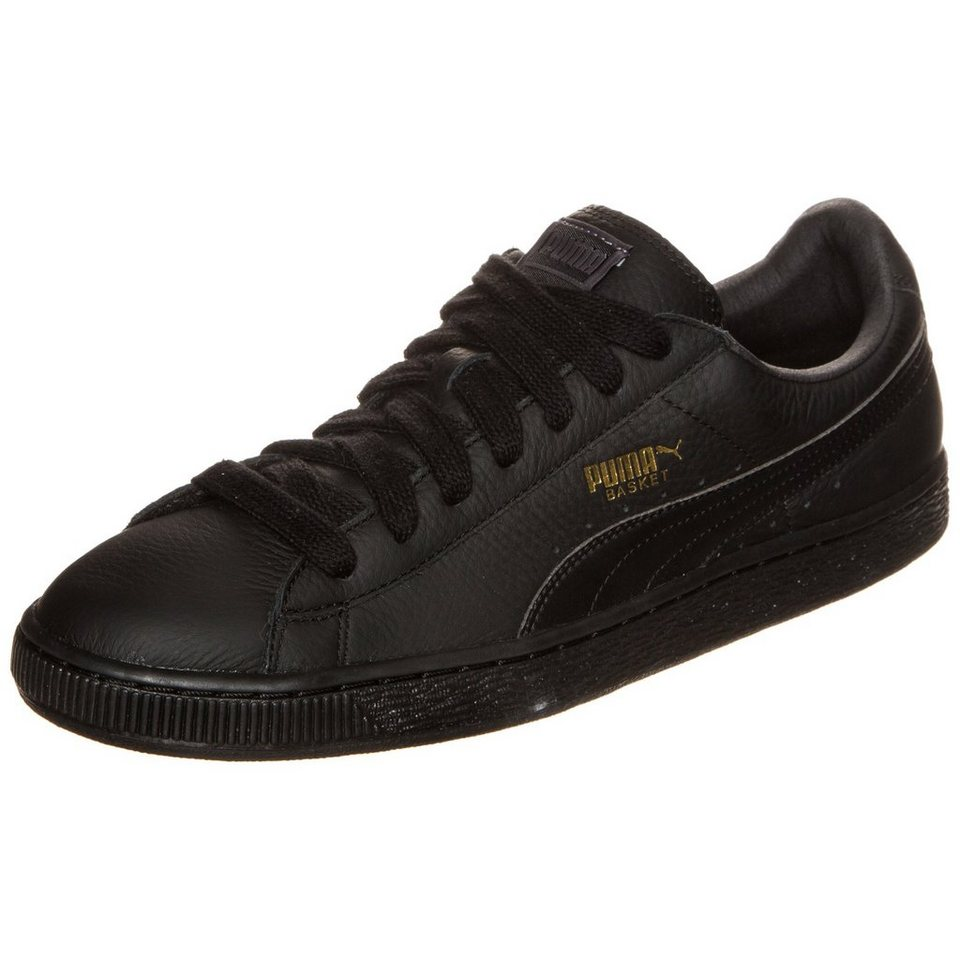 PUMA Basket Classic LFS Sneaker in schwarz / gold