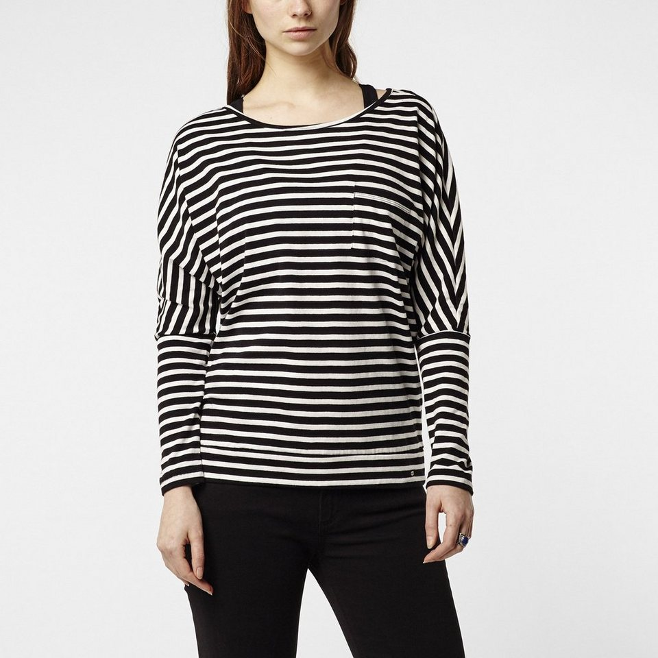 O'Neill T-Shirt langärmlig »Jack's Base Striped« in Schwarz mit weiß