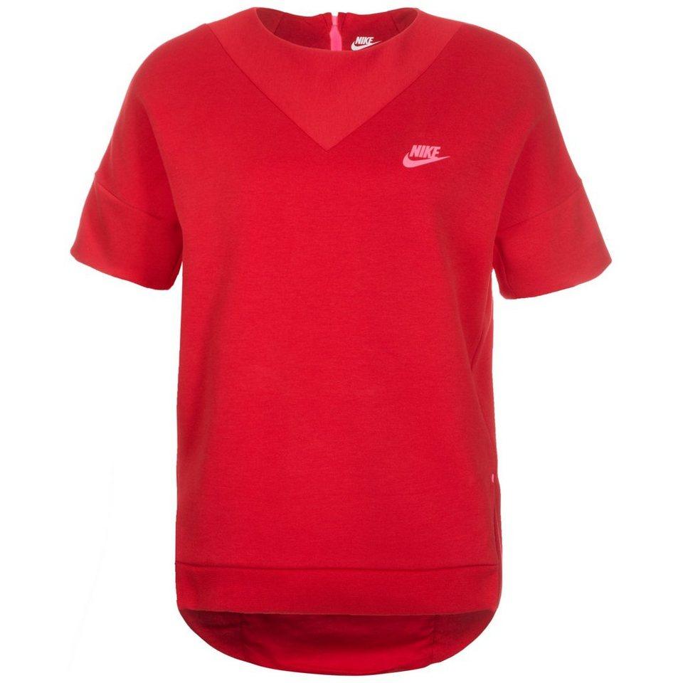 Nike Sportswear Tech Fleece Crew Sweatshirt Damen in rot