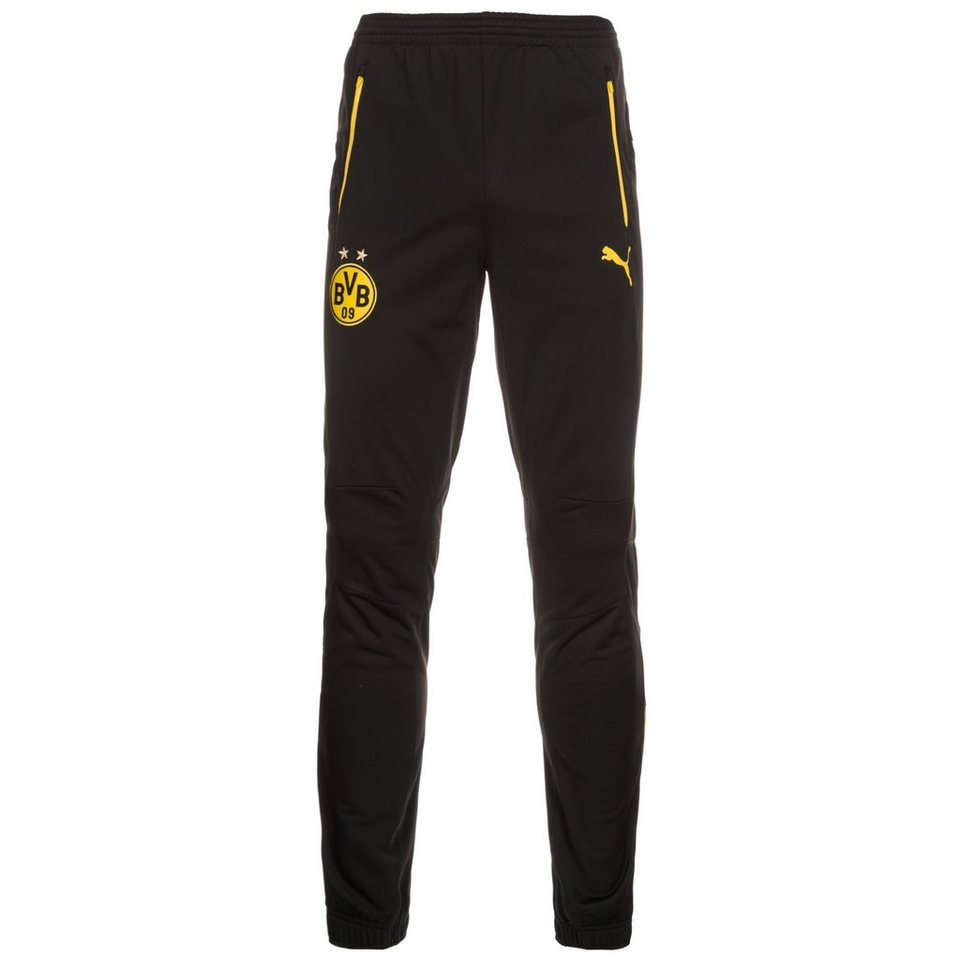 PUMA Borussia Dortmund Trainingshose Herren in schwarz / gelb