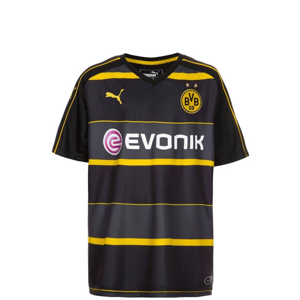 PUMA Borussia Dortmund Trikot Away 2016/2017 Kinder in schwarz / anthrazit