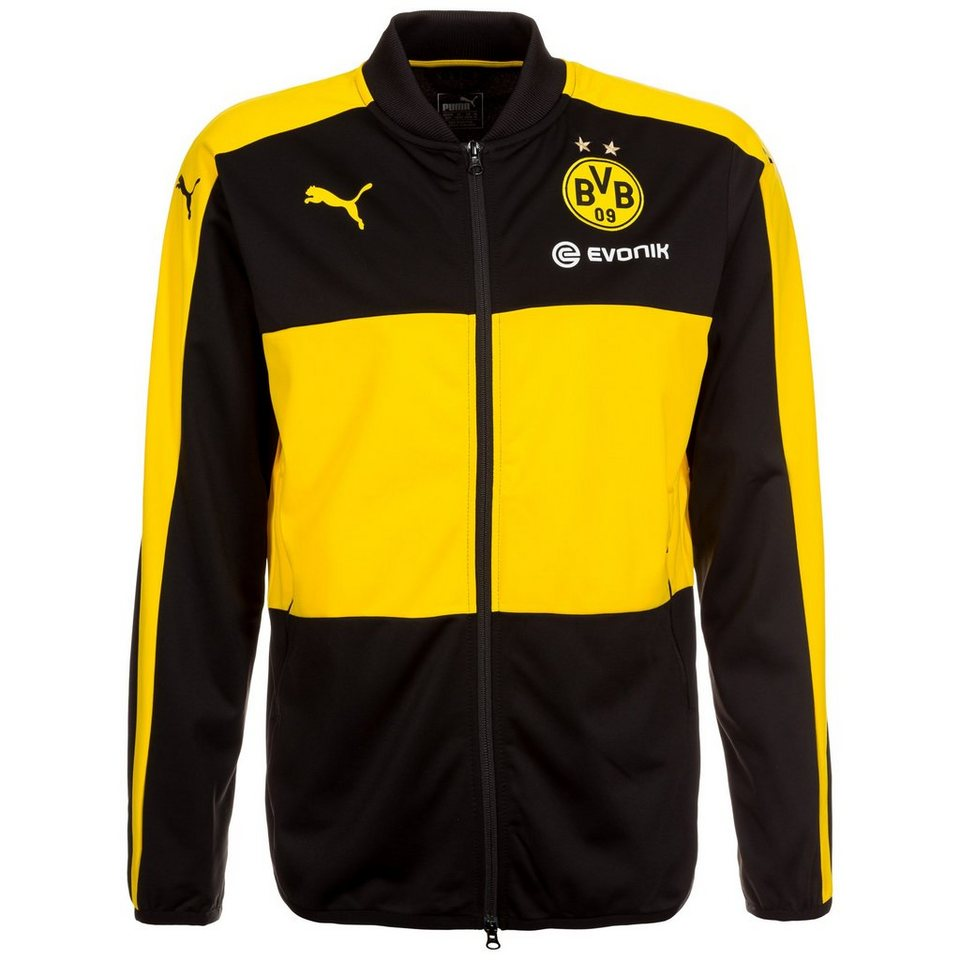 PUMA Borussia Dortmund Trainingsjacke Herren in schwarz / gelb