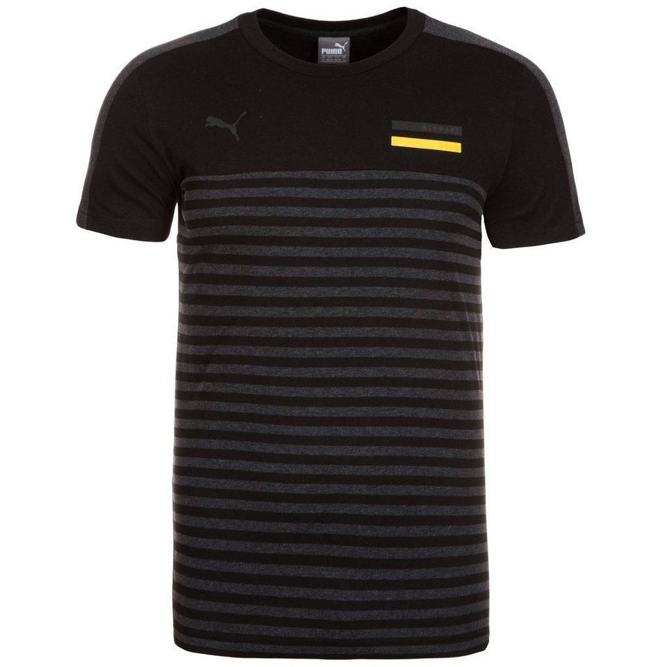 PUMA Borussia Dortmund Fan T-Shirt Herren in schwarz / grau