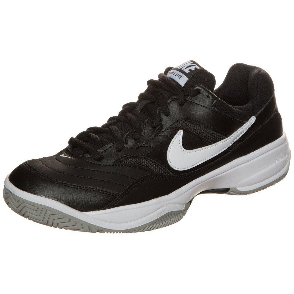 NIKE Court Lite Tennisschuh Herren in weiß / schwarz