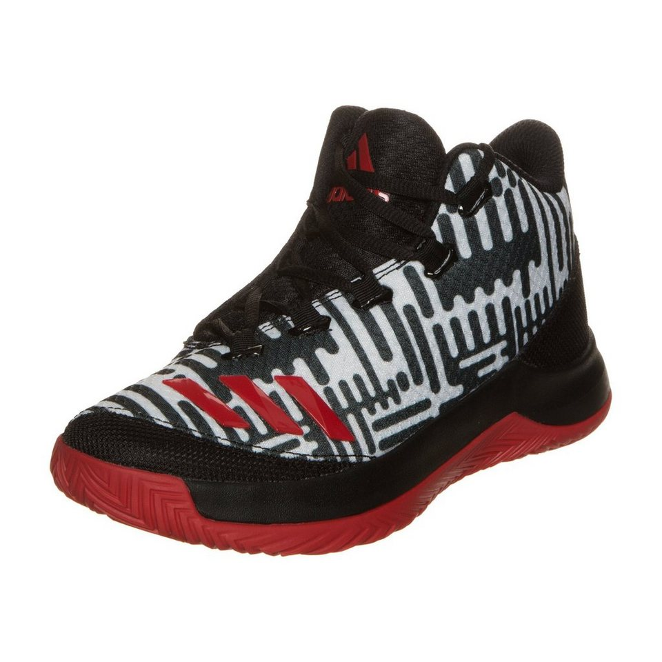 adidas Performance Outrival 2016 Basketballschuh Kinder in schwarz / rot / weiß
