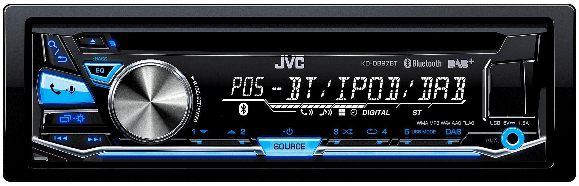 JVC 1-DIN USB / CD-Receiver mit DAB+ & Bluetooth »KD-DB97BT«