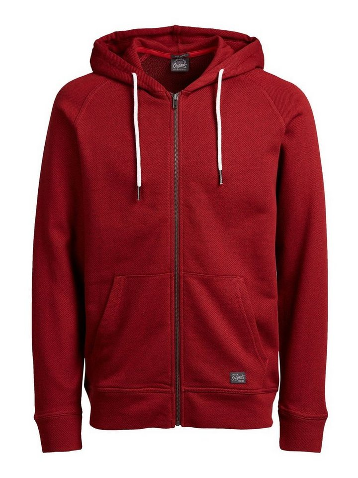 Jack & Jones Lässiges Sweatshirt mit Reißverschluss in Syrah