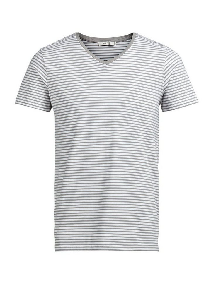 Jack & Jones Gestreiftes T-Shirt in White 2