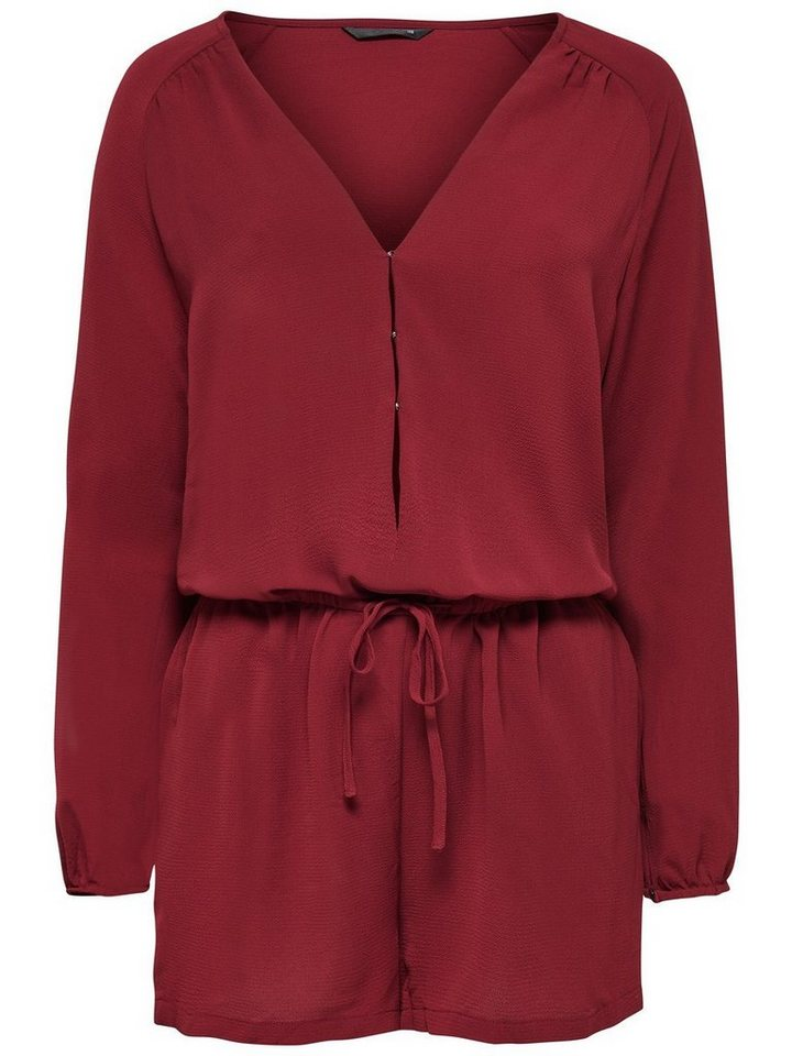 Only Langärmeliger Playsuit in Syrah