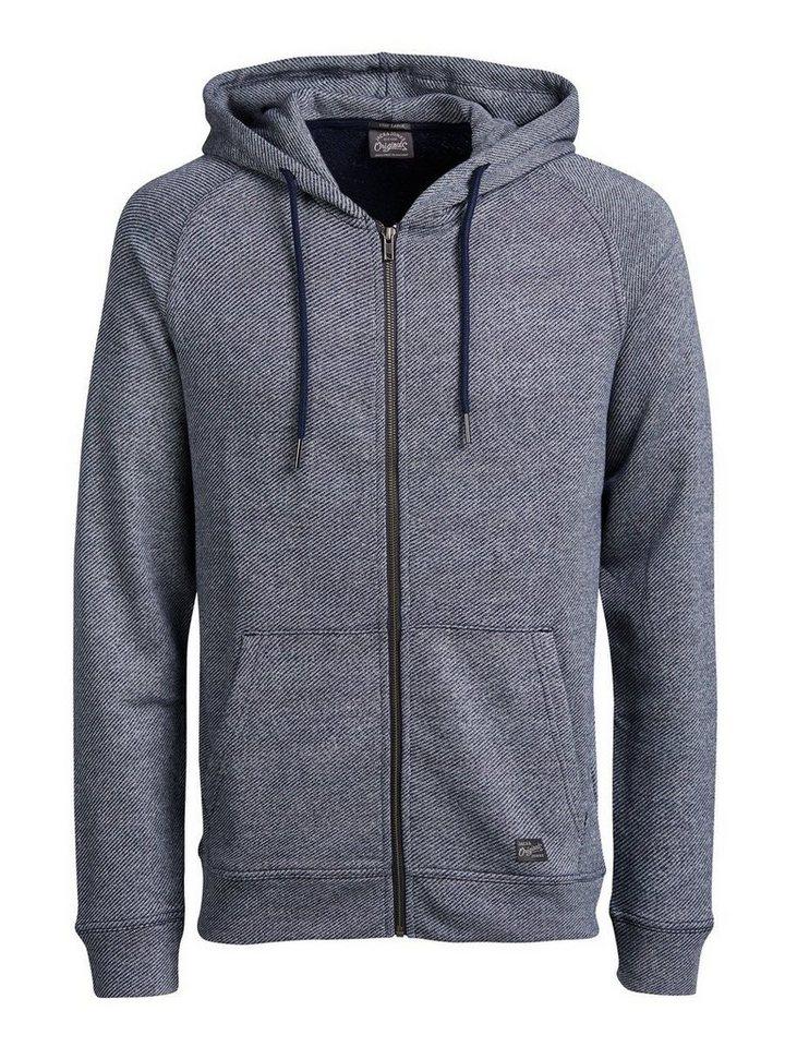 Jack & Jones Lässiges Sweatshirt mit Reißverschluss in Navy Blazer