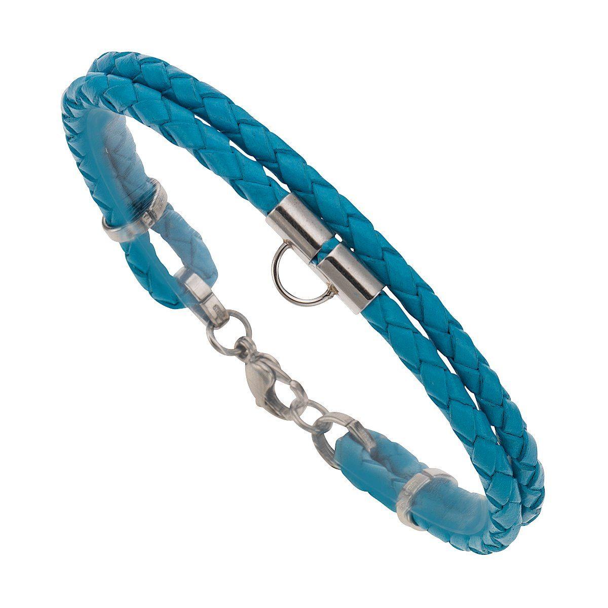 Zeeme Armband »Charms-Armband Leder türkis 19cm«