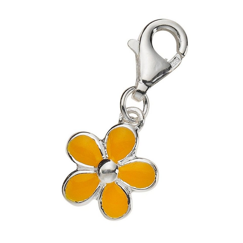 Zeeme Charm »925/- Sterling Silber Lack gelb« in gelb