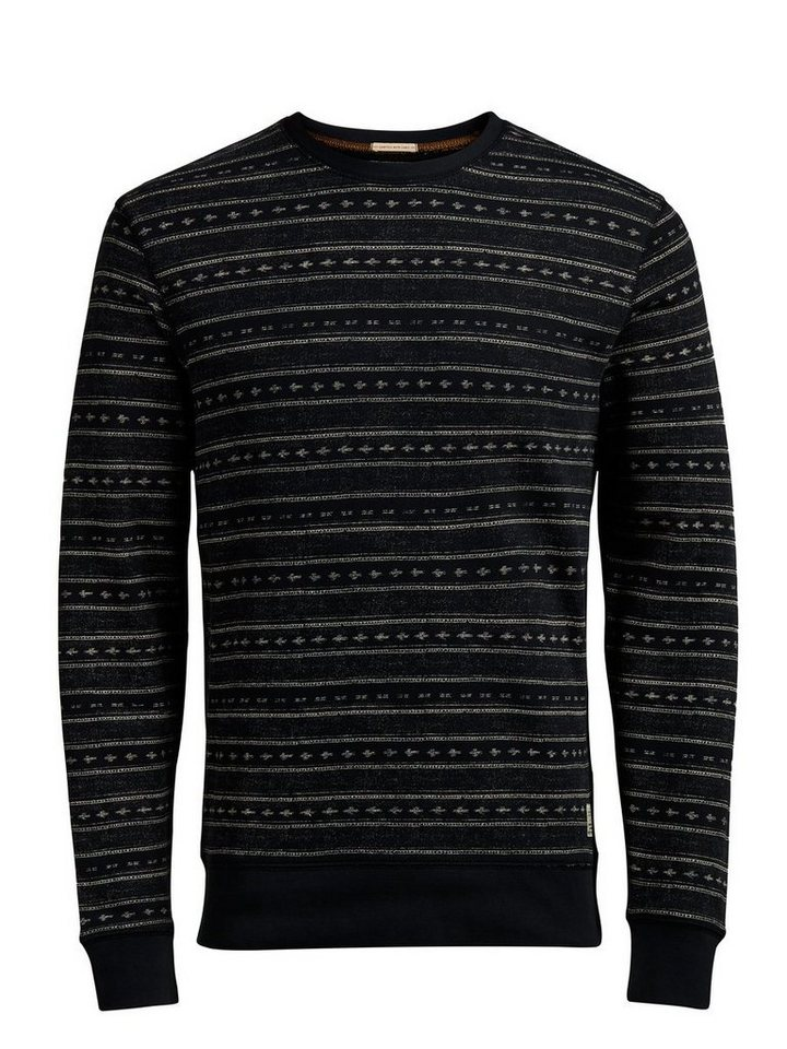 Jack & Jones Gemustertes Sweatshirt in Caviar
