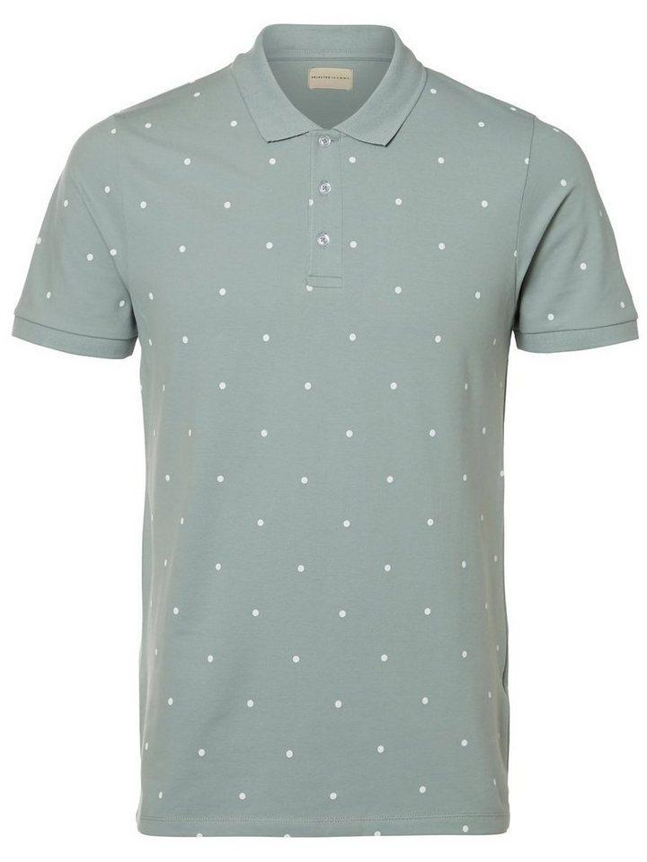 Selected Regular-Fit- Poloshirt in Slate
