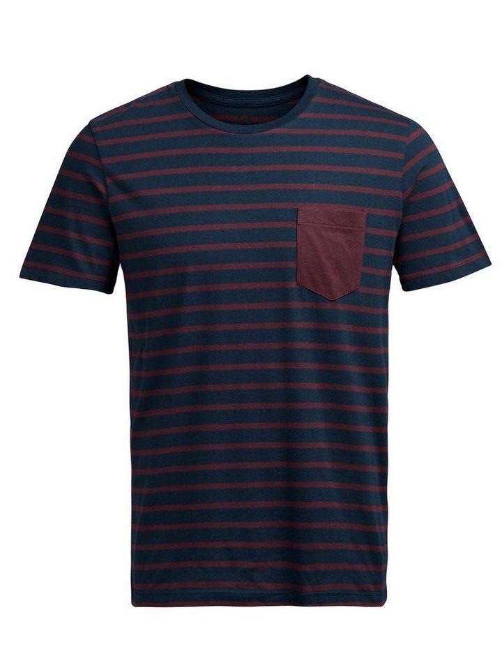 Jack & Jones Gestreiftes T-Shirt in Navy Blazer 2