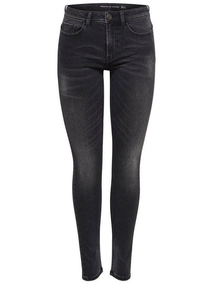 Only JDY Low Daze Skinny Fit Jeans in Dark Grey Denim