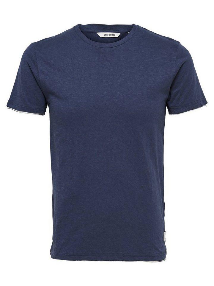 ONLY & SONS Kurzärmeliges T-Shirt in Dress Blues