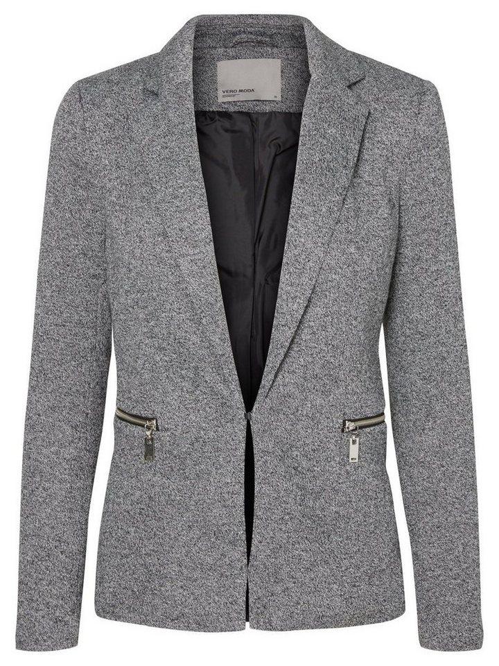 Vero Moda Langärmeliger Blazer in Dark Grey Melange