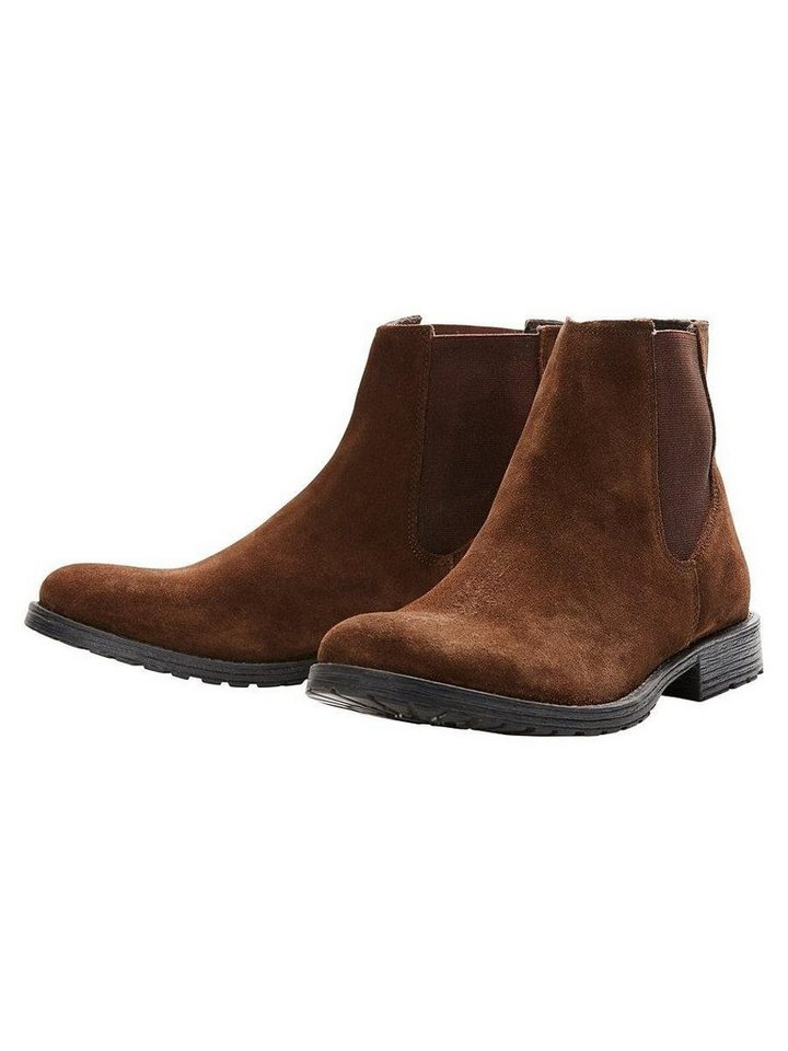 Jack & Jones Chelsea- Stiefel in Brown Stone