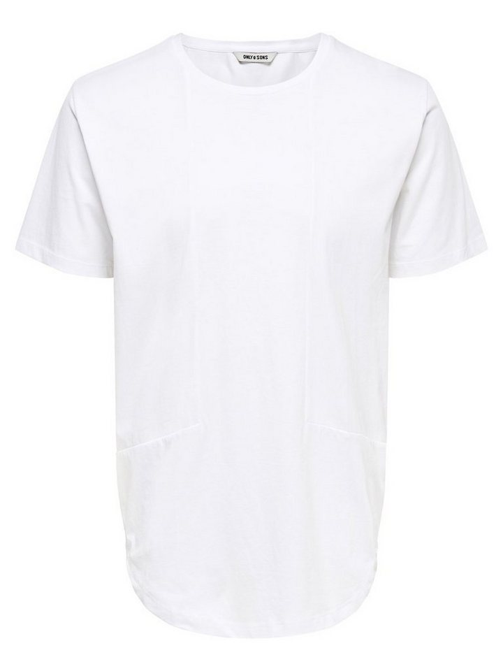 ONLY & SONS Detailliertes T-Shirt in White