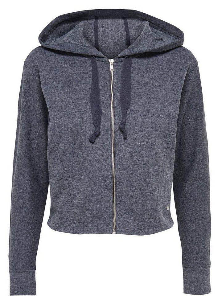 Only Kurz geschnittenes Sweatshirt in Dark Navy