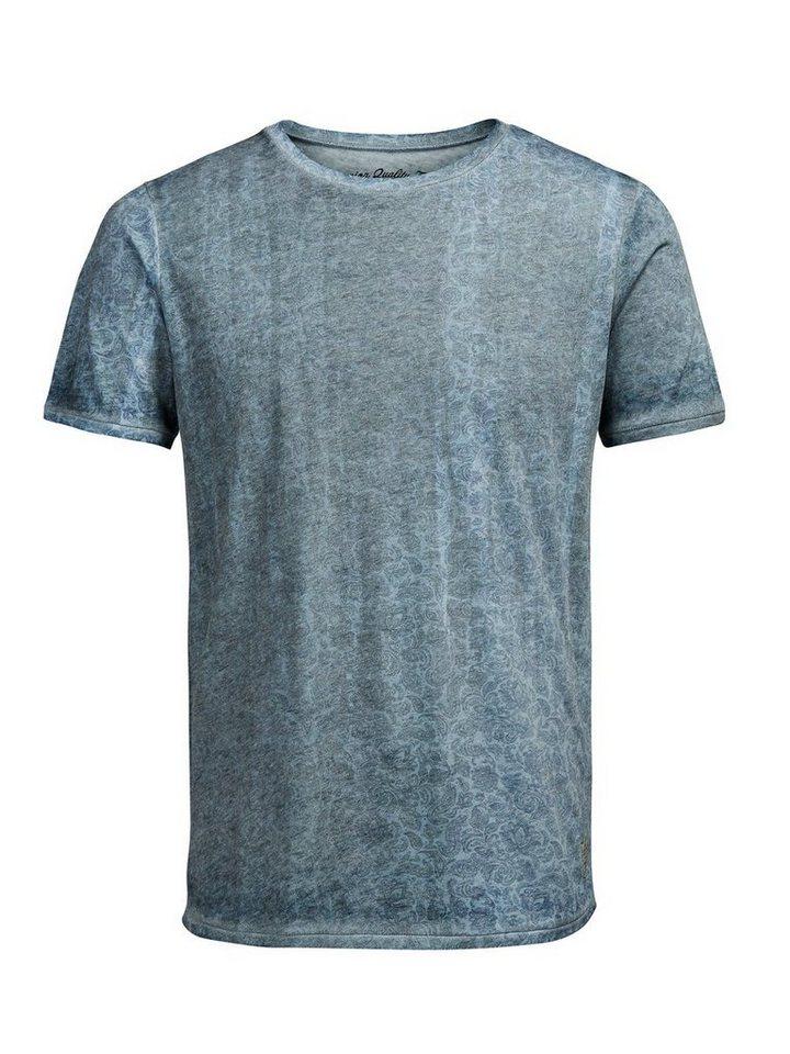 Jack & Jones Paisley- T-Shirt in Light Blue Denim