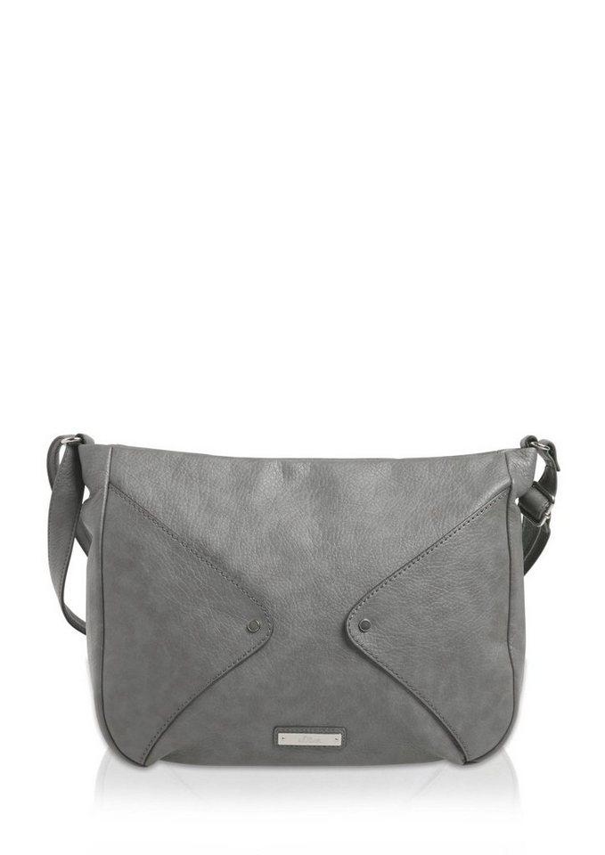 s.Oliver Shoulder Bag mit Rauten-Detail in limestone