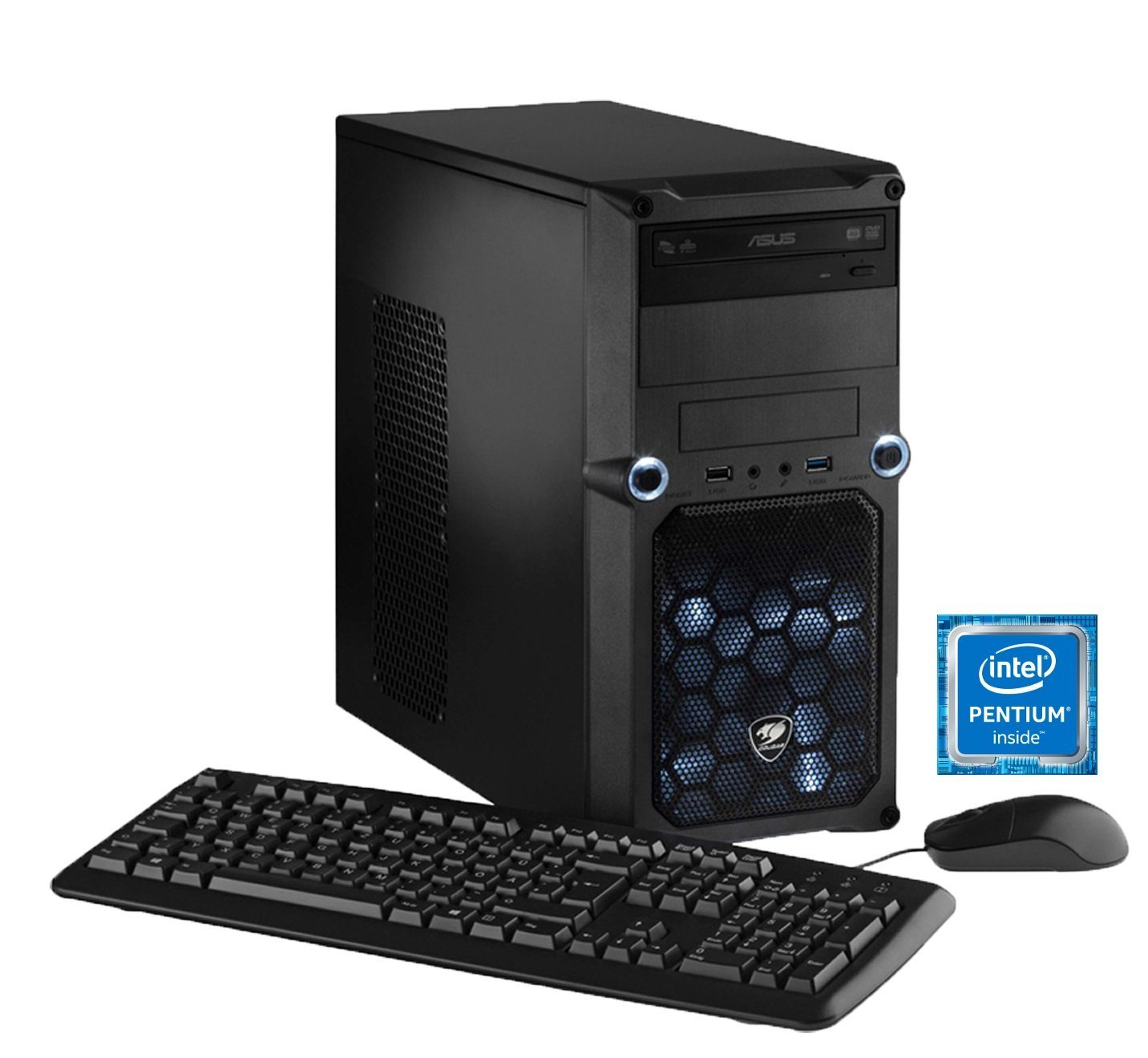 Hyrican Gaming PC Intel® Pentium® G4400, 8GB, 1TB, GT 730, Windows 10 »CyberGamer 5247«