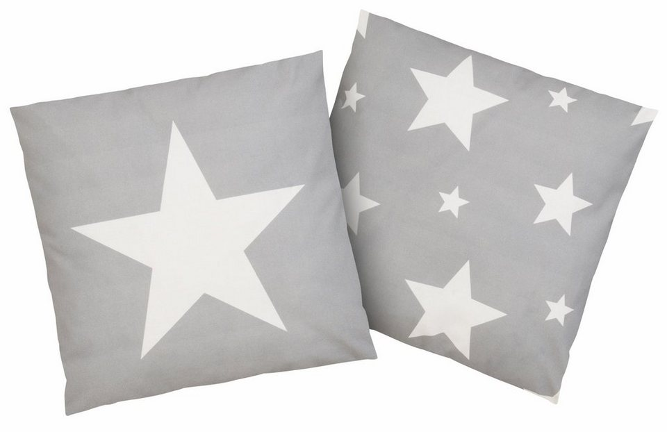 Kissenbezug, Casatex, »Sterne«, mit Sternendruck in silber