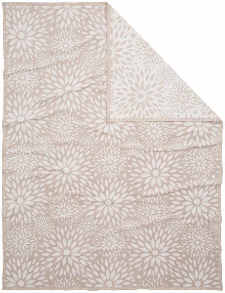 Decke, Casatex, »Sylvia«, mit Blütenmuster in beige-weiß