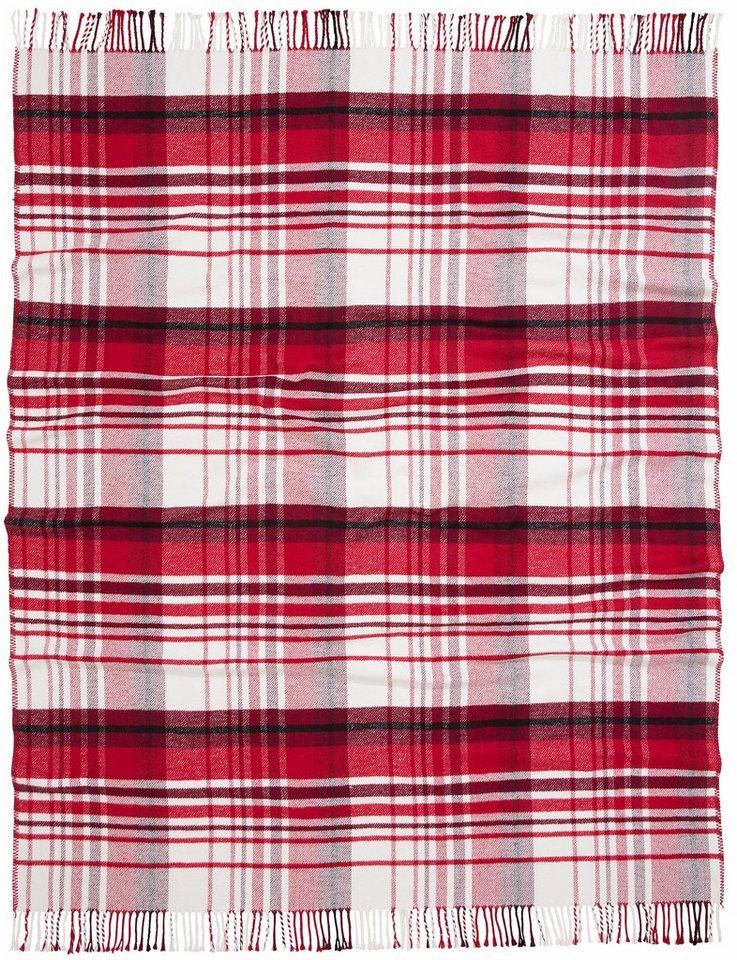 Decke, Casatex, »George«, mit großem Karo in rot