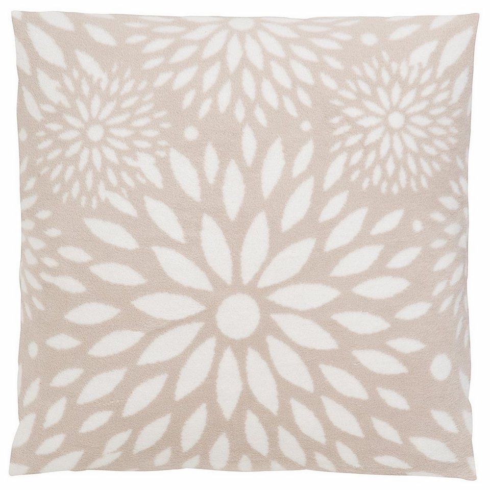 Kissenbezug, Casatex, »Sylvia«, mit zarten Blütenmotiven in beige-weiß