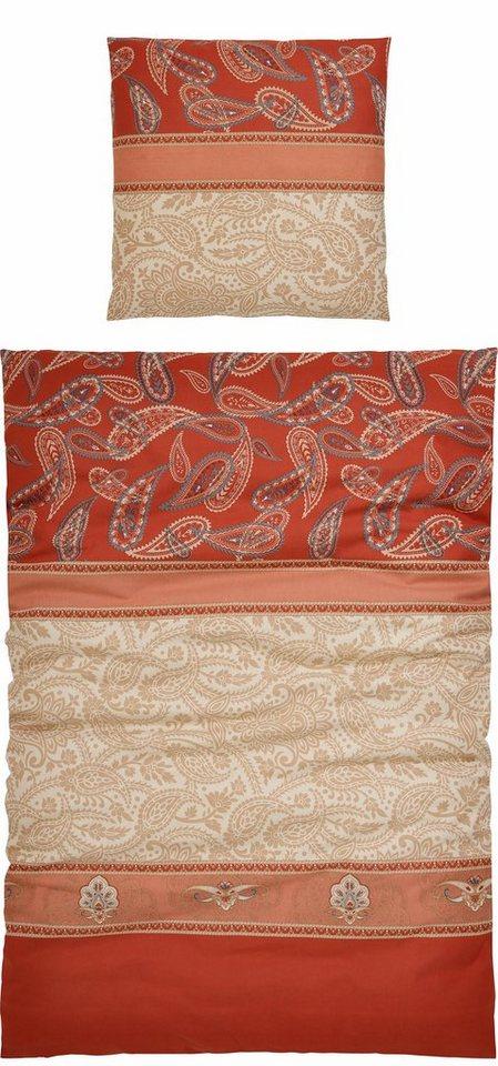 Bettwäsche, My Home Selection, »Riam«, mit dekorativem Muster in terra
