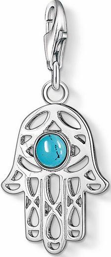 THOMAS SABO Charm-Einhänger »Fatimas Hand, 1052-404-17« mit Türkis