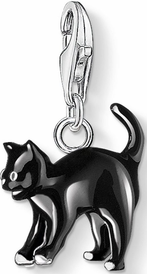 Thomas Sabo Charm-Einhänger »Katze, 0701-007-11« in Silber 925-schwarz