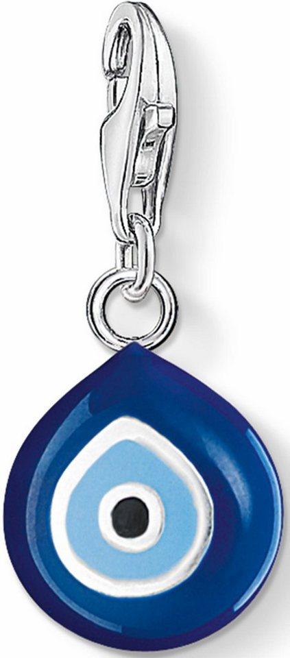 Thomas Sabo Charm-Einhänger »Türkisches Auge, 0829-007-1« in Silber 925-blau-hellblau-weiß-schwarz