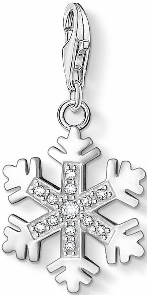 Thomas Sabo Charm-Einhänger »Schneeflocke, 0608-051-14« mit Zirkonia in Silber 925