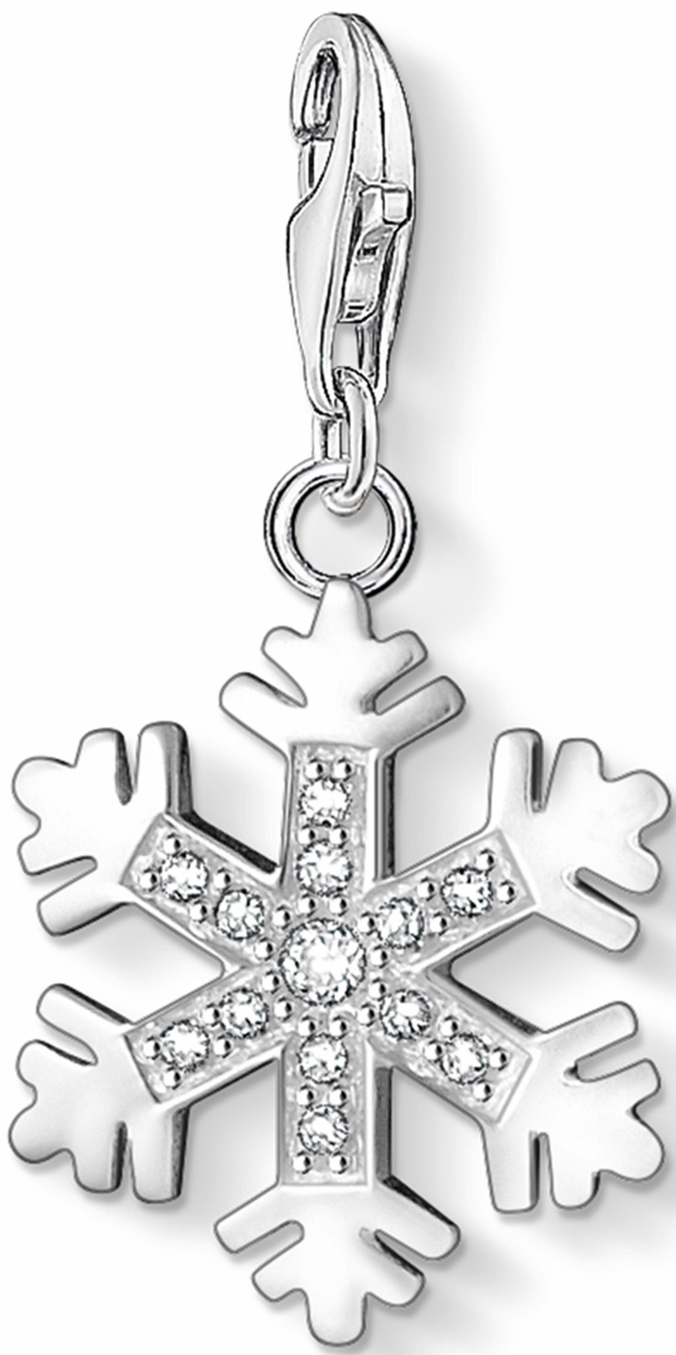 Thomas Sabo Charm-Einhänger »Schneeflocke, 0608-051-14«, mit Zirkonia