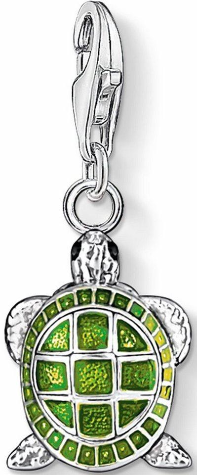 Thomas Sabo Charm-Einhänger »Schildkröte, 0837-007-6« in Silber 925-grün