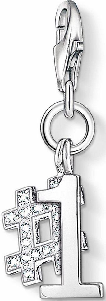 Thomas Sabo Charm-Einhänger »Nummer 1, 1076-051-14« mit Zirkonia in Silber 925