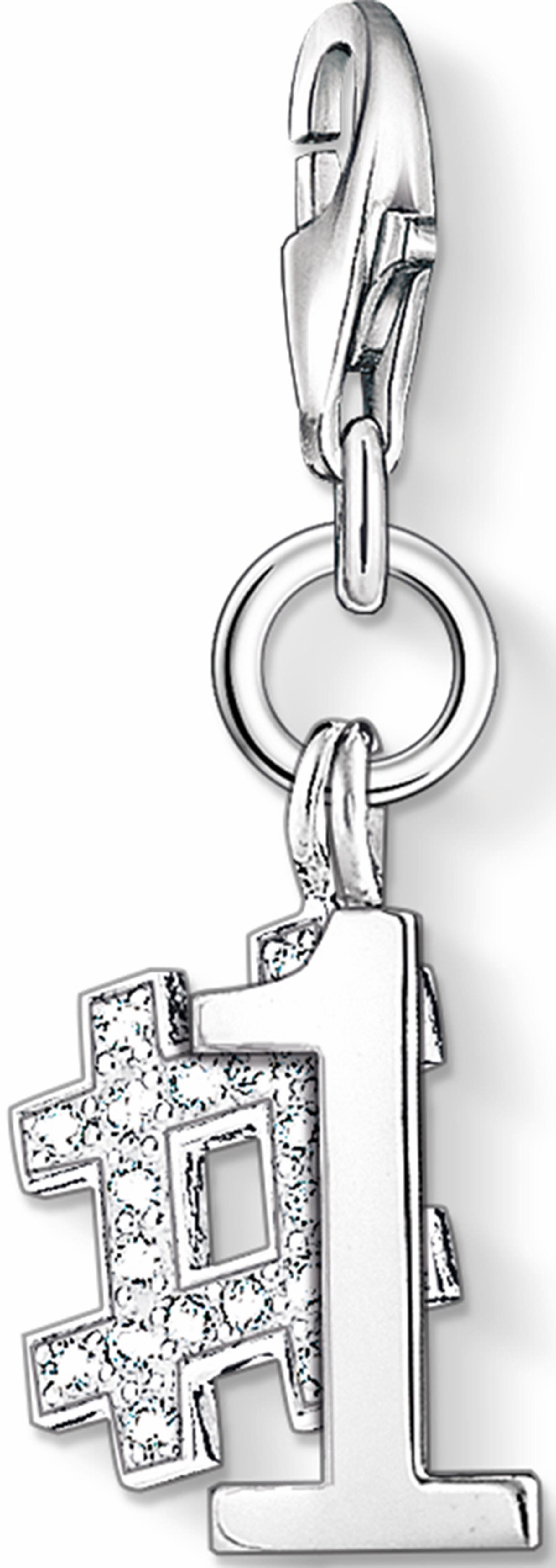 Thomas Sabo Charm-Einhänger »Nummer 1, 1076-051-14« mit Zirkonia