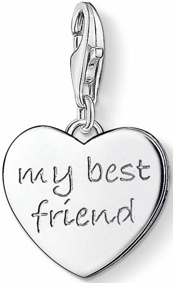 Thomas Sabo Charm-Einhänger »MY BEST FRIEND, 0799-001-12« in Silber 925