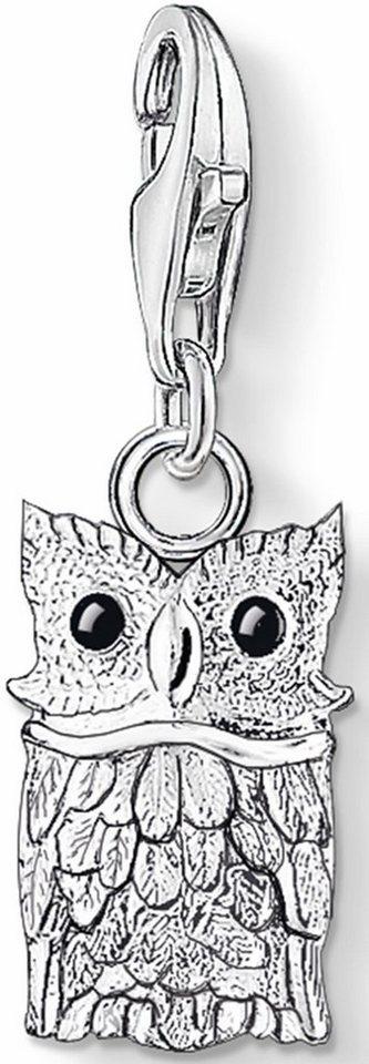 Thomas Sabo Charm-Einhänger »Eule, 0792-007-12« in Silber 925-schwarz